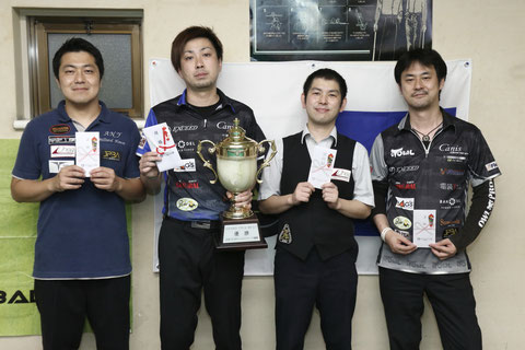 Naoyuki Oi (l2) won 2017 JPBA Grand Prix West stop#2