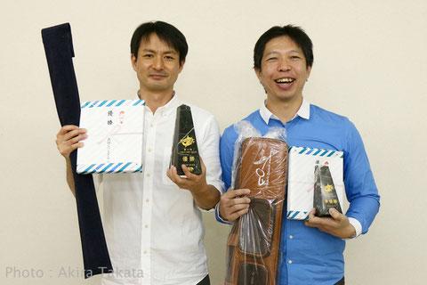 シルバースター上位2名。左から優勝:西川、2位:吉田