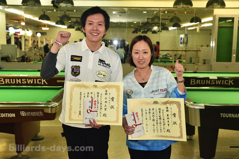 Masato Yoshioka & Miyuki Kuribayashi won 2019 Kansai Open