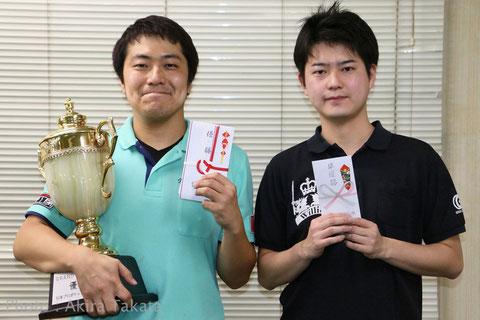 Yuichi Inagawa (left) won JPBA Grand Prix West stop #4