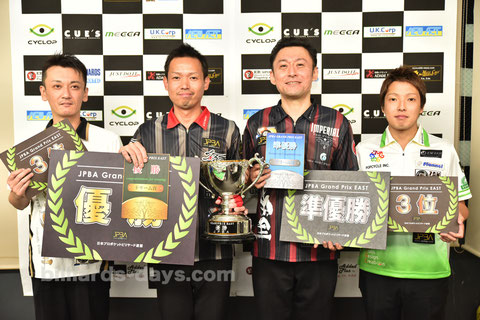 Yukio Akagariyama (l2)  won 2017 JPBA Grand Prix East stop#5 in Chiba