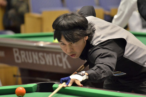Yutaka Fukuda 今年7月、ポケットのジャパンオープンにて