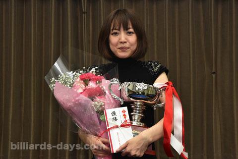 Ayako Sakai won 1st 3-cushion Queen's Cup in Tokyo