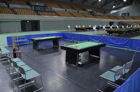 『都道府県対抗』会場の和歌山ビッグホエールに設けられた体験スペース(2013年撮影)