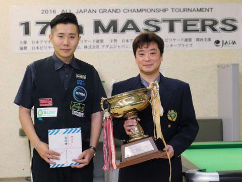 昨年(2016年)のファイナリスト。右:優勝の醍醐雅人、左:2位の小川徳郎