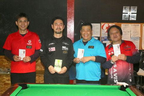 昨年(2020年)のGPW-1 at R.T.B表彰。竹中寛(左2)が優勝