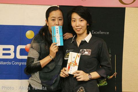 2位梶谷景美(左。Akimi Kajitani) 優勝河原千尋(Chihiro Kawahara) 写真:タカタアキラ