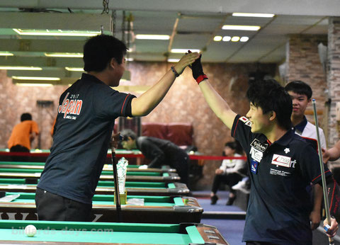 Team Japan won Junior 9-ball doubles.