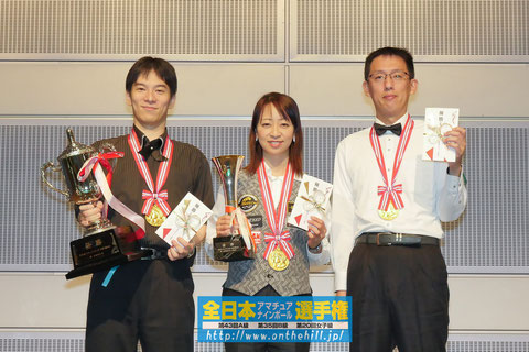 Winners of 2019 All Japan Amateur 9-ball championship Pictures courtesy of On the hill !