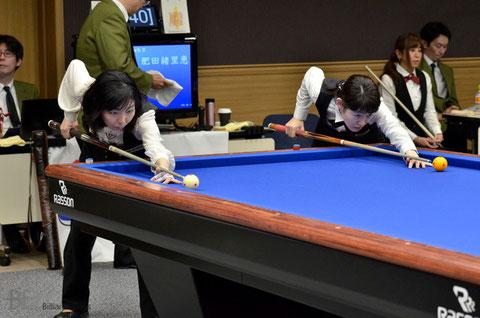 2014年の女子全日本選手権はファイナルで西本優子(左)に敗れて2位