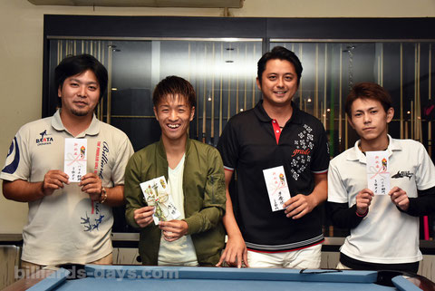 2016年ハマチ部門入賞者。優勝は照屋大志(左2)