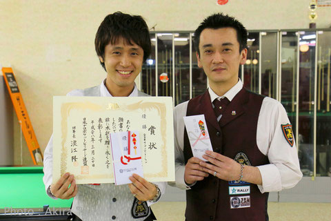 Hayato Hijikata (left) won All Japan Rotation 2016