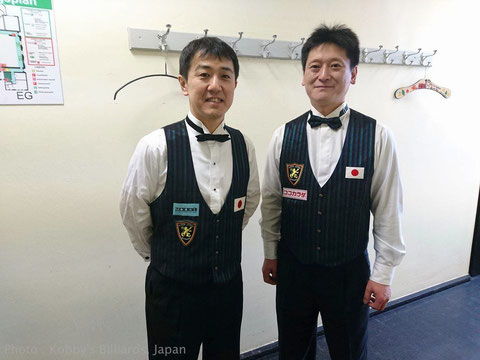 Team Japan. World Championship Nat. Teams 3-C 2016 Photo : Kobby's Billiards, Japan