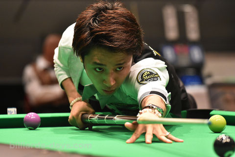 Hayato Hijikata goes to Stage 2 of 2016 World Pool Championship ※2016ジャパンオープンで撮影