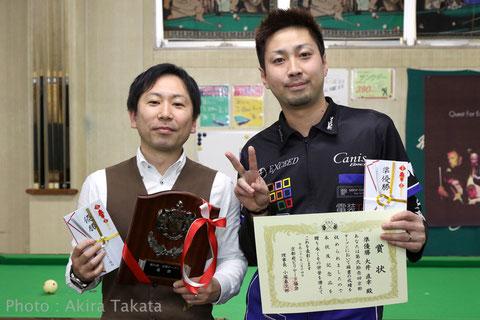 Ryuji Shimada (amateur, left) won 21st Kyoto Open Photo : Akira Takata