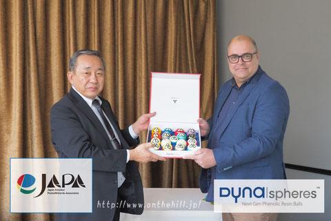↑2月に東京で行われた契約調印式より。 左はJAPA理事長・中野敏雄氏、右はHCSB社COO、T・ガブリエル氏 Photo : On the hill !