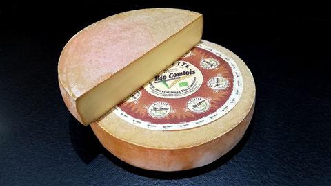 Morbier Bio AOP lait cru, 45 jours d'affinage, vente fromage ferme de la mare, fromagerie, lamballe côtes d'armor, bretagne