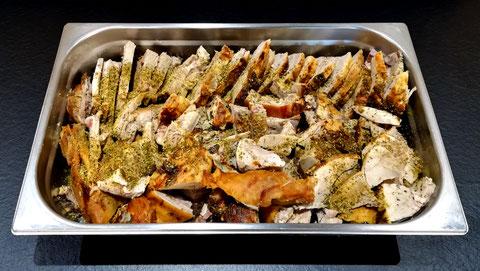plat de cochon grillé, porcelet grillé traiteur