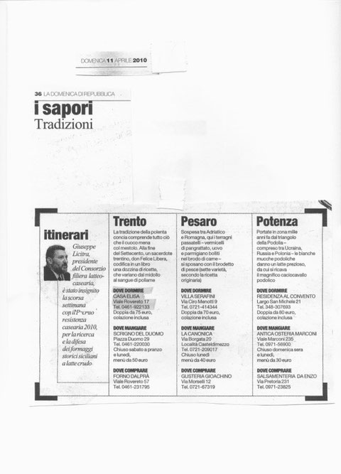 La domenica di Repubblica 11/04/2010