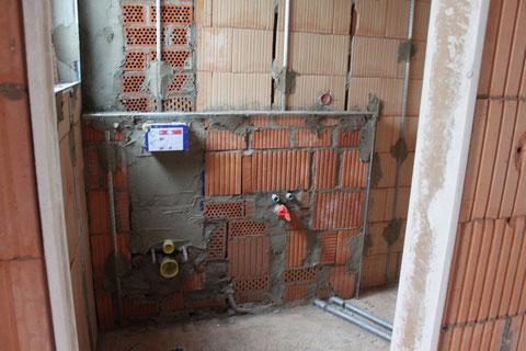 Abmauerung Gästebad am 12.11.2011