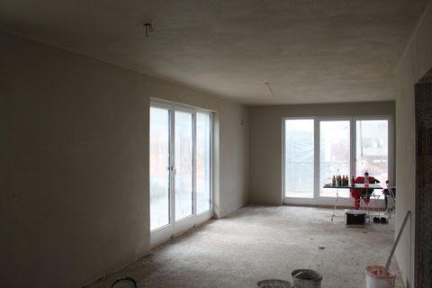 Wohnzimmer verputzt 22.11.2011