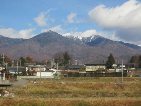 綺麗な山脈が見える。冬の長野は初めて^^