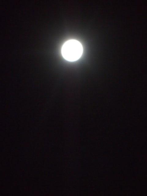 15夜のお月様で、満月になるのは次は8年後なのだとか。グッドタイミングだった今日。