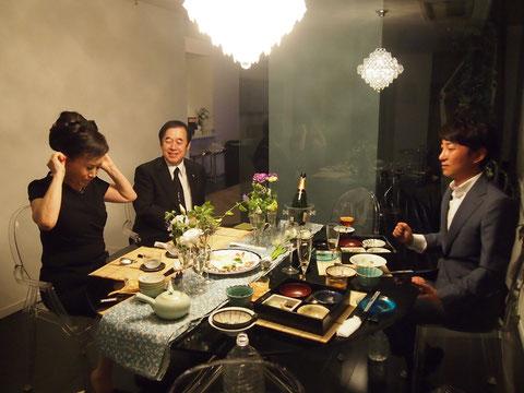 とっても お話が面白くてキュートで素敵な かつみちえこ夫人^^ 優しく見守る近藤会長^^