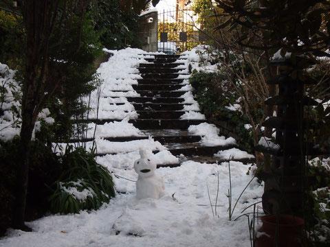 光で雪がきらきら輝いていてとっても綺麗・・・^^ 雪だるまつくってもよかったなぁ^^ 来年チャレンジだ^^!