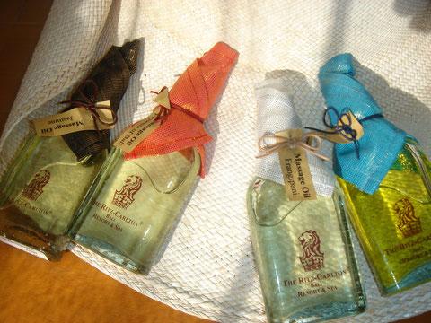 リッツカールトンバリのアロママッサージオイル皆香が違う