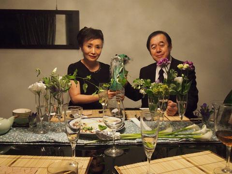 モナコのワインを 勝美千恵子夫人が 自らくラッピングしてくださったそうです。ビーズやレースのリボンがついていてとてもオシャレ^^さすがです!