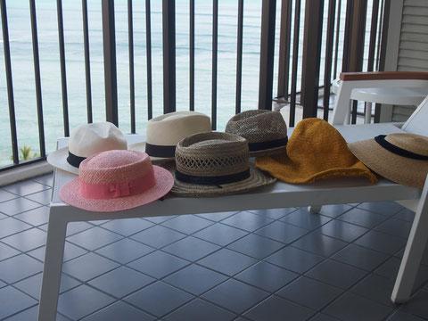 いい帽子も安かわ帽子も 持ってきたのはちゃんと全部かぶりました^^