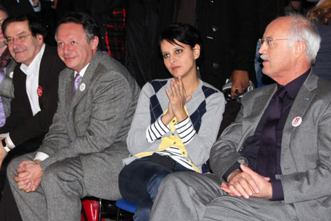 Jean-Louis TOURAINE, Najat VALLAUD-BELKACEM, Thierry BRAILLARD, Pierre-Alain MUET  Photo : Anik Couble