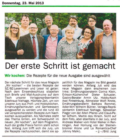 Artikel aus der SZBZ vom 23.05.2013