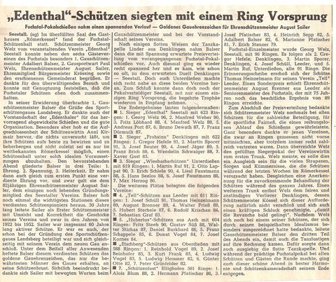7. Fuchstalpokalschießen 1968 in Seestall