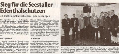 38. Fuchspokalschießen 1999 inDenklingen