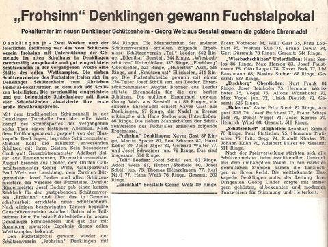 8. Fuchstalpokalschießen 1969 in Denklingen