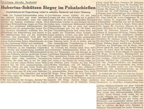 1. Fuchstalpokalschießen 1962 in Asch