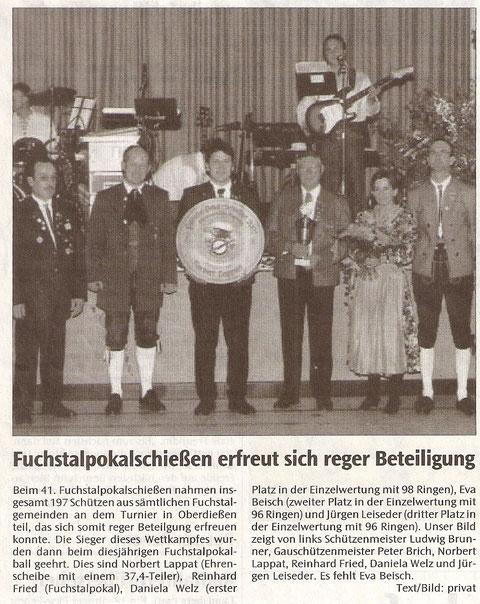 41. Fuchstalpokalschießen 2002 in Oberdießen