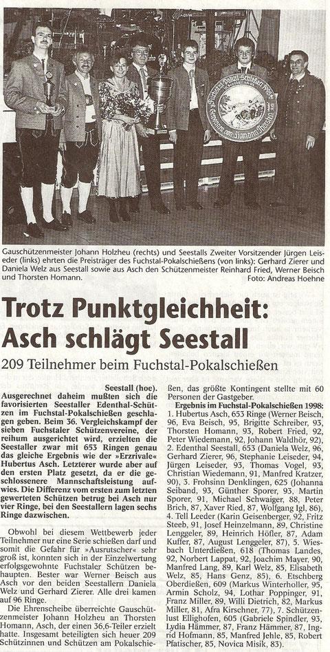 37. Fuchstalpokalschießen 1998 in Seestall