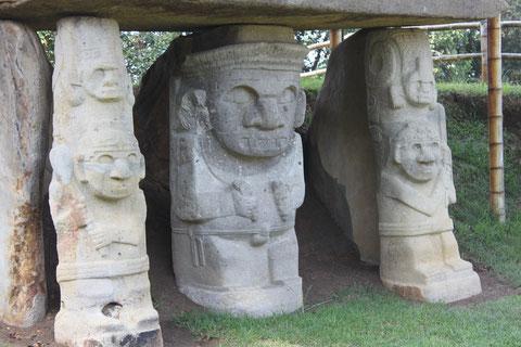 Im Archäologischen Park von San Agustín