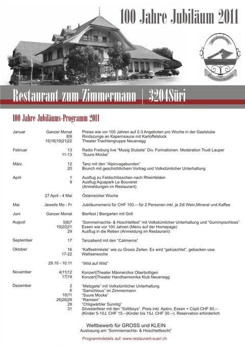 Jubiläumsprogramm