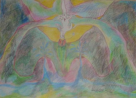 Buntstift auf Papier, 2012, 42x29,5