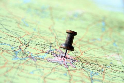 地図にピン留め