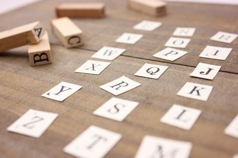 アルファベットのスタンプ