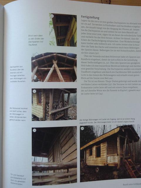 Wohnwagen bauen aus Rundholzstämmen