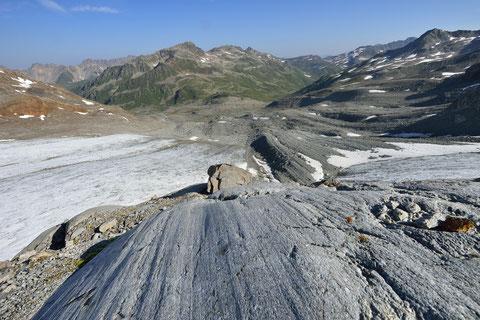 Auch der Porchabella-Gletscher im Keschgebiet schwindet immer mehr - Copyright Lorenz Andreas Fischer