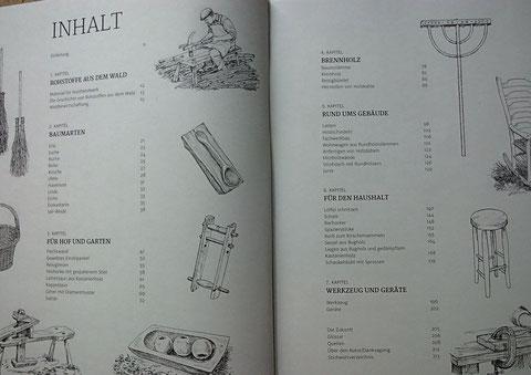 Inhaltsverzeichnis Waldwerk Ideenbuch