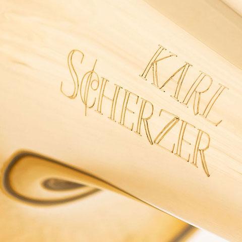 Posaune mit Karl Scherzer Gravur