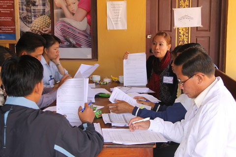 Picture 26: Conducting evaluation training for the evaluation team
